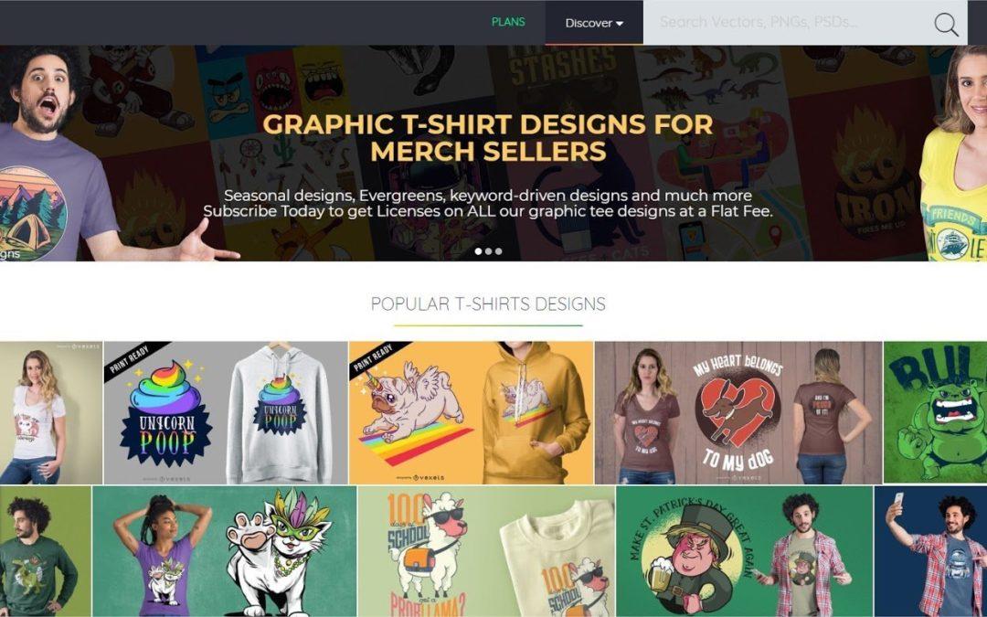 Merch Informer Design Feature: Vexels Graphic Stock